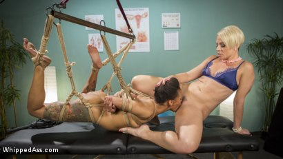 Lesbian Orgasm Clinic: Hot Patient Prescribed BDSM Squirting Therapy