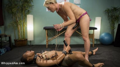 Photo number 20 from Lesbian Orgasm Clinic: Hot Patient Prescribed BDSM Squirting Therapy shot for Whipped Ass on Kink.com. Featuring Helena Locke and Nikki Darling in hardcore BDSM & Fetish porn.