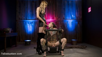 Photo number 1 from Casey Kisses Teases and Fucks Submissive Slut Ruckus shot for TS Seduction on Kink.com. Featuring Casey Kisses and Ruckus in hardcore BDSM & Fetish porn.