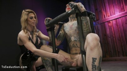 Photo number 13 from Casey Kisses Teases and Fucks Submissive Slut Ruckus shot for TS Seduction on Kink.com. Featuring Casey Kisses and Ruckus in hardcore BDSM & Fetish porn.