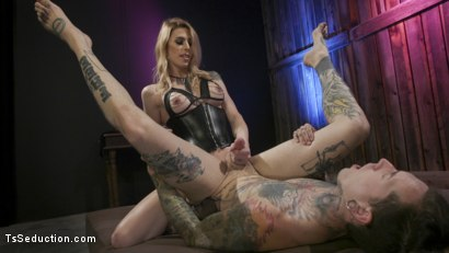 Photo number 6 from Casey Kisses Teases and Fucks Submissive Slut Ruckus shot for TS Seduction on Kink.com. Featuring Casey Kisses and Ruckus in hardcore BDSM & Fetish porn.