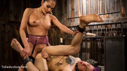 Photo number 15 from Out Foxed 2: Big Boss Becomes Dungeon Anal Whore shot for TS Seduction on Kink.com. Featuring Jessica Fox and Corbin Dallas in hardcore BDSM & Fetish porn.