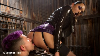 Photo number 5 from Out Foxed 2: Big Boss Becomes Dungeon Anal Whore shot for TS Seduction on Kink.com. Featuring Jessica Fox and Corbin Dallas in hardcore BDSM & Fetish porn.