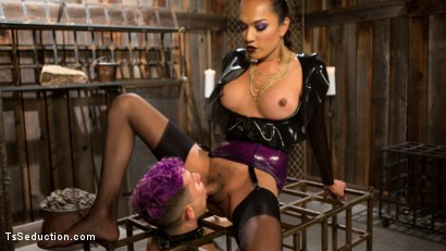 Photo number 7 from Out Foxed 2: Big Boss Becomes Dungeon Anal Whore shot for TS Seduction on Kink.com. Featuring Jessica Fox and Corbin Dallas in hardcore BDSM & Fetish porn.