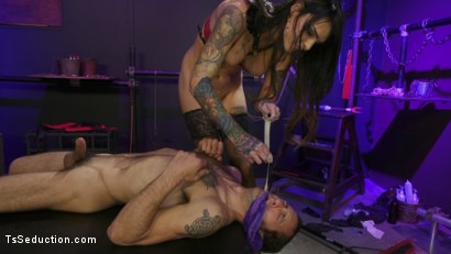 Photo number 14 from Chelsea Marie pounds pervert panty boy slut shot for TS Seduction on Kink.com. Featuring DJ and Chelsea Marie in hardcore BDSM & Fetish porn.