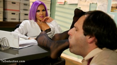 Photo number 7 from Hole for Hire: Desperate schlub sucks cock for job prospects  shot for TS Seduction on Kink.com. Featuring TS Foxxy and Marcelo in hardcore BDSM & Fetish porn.