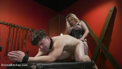 Photo number 1 from Aiden Starr pounds fresh meat shot for Divine Bitches on Kink.com. Featuring Aiden Starr and Rick Fantana in hardcore BDSM & Fetish porn.
