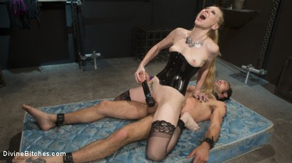 Photo number 9 from Svelte Blonde Delirious Hunter Punishes and Fucks Buttslut Slave shot for Divine Bitches on Kink.com. Featuring Delirious Hunter and DJ in hardcore BDSM & Fetish porn.