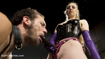 Photo number 11 from Svelte Blonde Delirious Hunter Punishes and Fucks Buttslut Slave shot for Divine Bitches on Kink.com. Featuring Delirious Hunter and DJ in hardcore BDSM & Fetish porn.