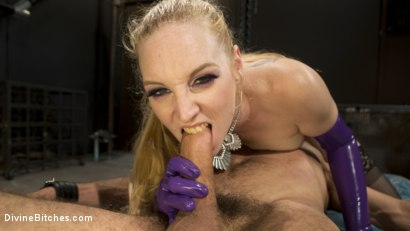 Photo number 4 from Svelte Blonde Delirious Hunter Punishes and Fucks Buttslut Slave shot for Divine Bitches on Kink.com. Featuring Delirious Hunter and DJ in hardcore BDSM & Fetish porn.