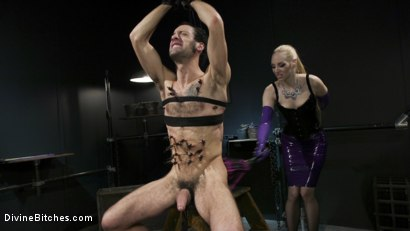Photo number 6 from Svelte Blonde Delirious Hunter Punishes and Fucks Buttslut Slave shot for Divine Bitches on Kink.com. Featuring Delirious Hunter and DJ in hardcore BDSM & Fetish porn.