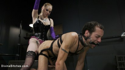 Photo number 8 from Svelte Blonde Delirious Hunter Punishes and Fucks Buttslut Slave shot for Divine Bitches on Kink.com. Featuring Delirious Hunter and DJ in hardcore BDSM & Fetish porn.