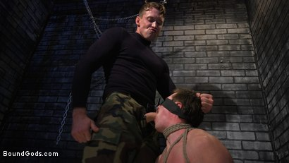 Photo number 2 from Rich Boy Jack Hunter Gets Punished & Fucked for his Father's Debts! shot for Bound Gods on Kink.com. Featuring Pierce Paris and Jack Hunter in hardcore BDSM & Fetish porn.