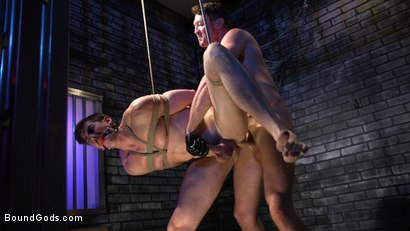Photo number 15 from Rich Boy Jack Hunter Gets Punished & Fucked for his Father's Debts! shot for Bound Gods on Kink.com. Featuring Pierce Paris and Jack Hunter in hardcore BDSM & Fetish porn.