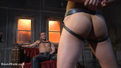 Photo number 1 from Myles Landon Punishes Chance Summerlin With Huge, Thick Cock shot for Bound Gods on Kink.com. Featuring Myles Landon and Chance Summerlin in hardcore BDSM & Fetish porn.