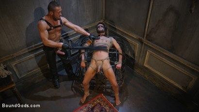 Photo number 15 from Myles Landon Punishes Chance Summerlin With Huge, Thick Cock shot for Bound Gods on Kink.com. Featuring Myles Landon and Chance Summerlin in hardcore BDSM & Fetish porn.