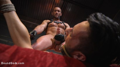 Photo number 18 from Myles Landon Punishes Chance Summerlin With Huge, Thick Cock shot for Bound Gods on Kink.com. Featuring Myles Landon and Chance Summerlin in hardcore BDSM & Fetish porn.