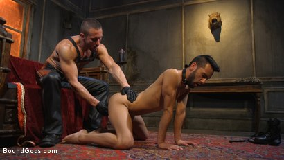 Photo number 3 from Myles Landon Punishes Chance Summerlin With Huge, Thick Cock shot for Bound Gods on Kink.com. Featuring Myles Landon and Chance Summerlin in hardcore BDSM & Fetish porn.