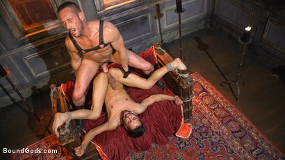 Photo number 21 from Myles Landon Punishes Chance Summerlin With Huge, Thick Cock shot for Bound Gods on Kink.com. Featuring Myles Landon and Chance Summerlin in hardcore BDSM & Fetish porn.