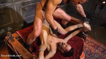 Photo number 23 from Myles Landon Punishes Chance Summerlin With Huge, Thick Cock shot for Bound Gods on Kink.com. Featuring Myles Landon and Chance Summerlin in hardcore BDSM & Fetish porn.