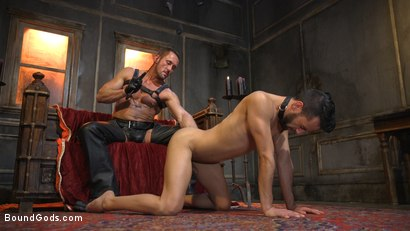 Photo number 5 from Myles Landon Punishes Chance Summerlin With Huge, Thick Cock shot for Bound Gods on Kink.com. Featuring Myles Landon and Chance Summerlin in hardcore BDSM & Fetish porn.