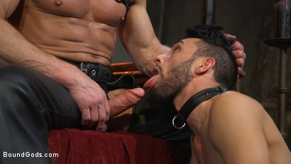 Photo number 8 from Myles Landon Punishes Chance Summerlin With Huge, Thick Cock shot for Bound Gods on Kink.com. Featuring Myles Landon and Chance Summerlin in hardcore BDSM & Fetish porn.
