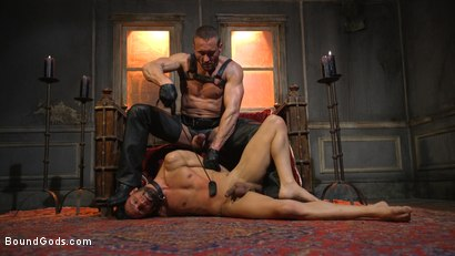 Photo number 10 from Myles Landon Punishes Chance Summerlin With Huge, Thick Cock shot for Bound Gods on Kink.com. Featuring Myles Landon and Chance Summerlin in hardcore BDSM & Fetish porn.
