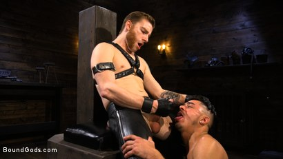 Photo number 10 from New Slave Cesar Xes petitions the House shot for Bound Gods on Kink.com. Featuring Sebastian Keys and Cesar Xes in hardcore BDSM & Fetish porn.