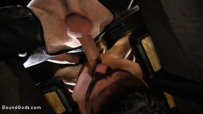 Photo number 5 from New Slave Cesar Xes petitions the House shot for Bound Gods on Kink.com. Featuring Sebastian Keys and Cesar Xes in hardcore BDSM & Fetish porn.