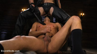 Photo number 7 from New Slave Cesar Xes petitions the House shot for Bound Gods on Kink.com. Featuring Sebastian Keys and Cesar Xes in hardcore BDSM & Fetish porn.