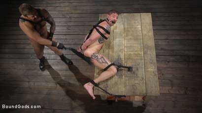 Photo number 12 from Newcomer Sean Maygers Gets Bound and Fucked By Huge Stud Colby Jansen shot for Bound Gods on Kink.com. Featuring Colby Jansen and Sean Maygers in hardcore BDSM & Fetish porn.