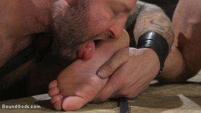 Photo number 16 from Newcomer Sean Maygers Gets Bound and Fucked By Huge Stud Colby Jansen shot for Bound Gods on Kink.com. Featuring Colby Jansen and Sean Maygers in hardcore BDSM & Fetish porn.