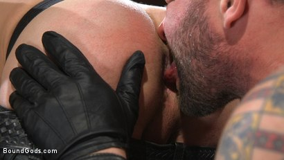 Photo number 4 from Newcomer Sean Maygers Gets Bound and Fucked By Huge Stud Colby Jansen shot for Bound Gods on Kink.com. Featuring Colby Jansen and Sean Maygers in hardcore BDSM & Fetish porn.