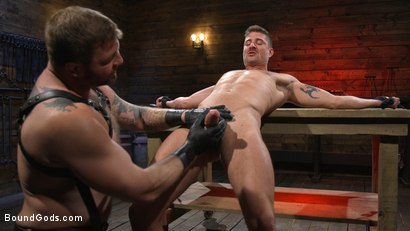 Photo number 5 from Newcomer Sean Maygers Gets Bound and Fucked By Huge Stud Colby Jansen shot for Bound Gods on Kink.com. Featuring Colby Jansen and Sean Maygers in hardcore BDSM & Fetish porn.
