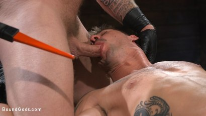 Photo number 10 from Newcomer Sean Maygers Gets Bound and Fucked By Huge Stud Colby Jansen shot for Bound Gods on Kink.com. Featuring Colby Jansen and Sean Maygers in hardcore BDSM & Fetish porn.