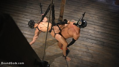 Photo number 18 from Matt Anthony Takes A Beating And A Fucking In Full Suspension shot for Bound Gods on Kink.com. Featuring Dominic Pacifico and Matt Anthony in hardcore BDSM & Fetish porn.