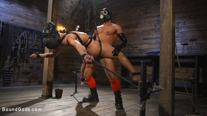 Photo number 19 from Matt Anthony Takes A Beating And A Fucking In Full Suspension shot for Bound Gods on Kink.com. Featuring Dominic Pacifico and Matt Anthony in hardcore BDSM & Fetish porn.