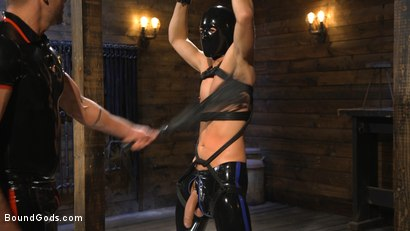 Photo number 3 from Matt Anthony Takes A Beating And A Fucking In Full Suspension shot for Bound Gods on Kink.com. Featuring Dominic Pacifico and Matt Anthony in hardcore BDSM & Fetish porn.