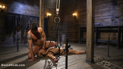 Photo number 24 from Matt Anthony Takes A Beating And A Fucking In Full Suspension shot for Bound Gods on Kink.com. Featuring Dominic Pacifico and Matt Anthony in hardcore BDSM & Fetish porn.