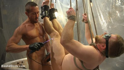 Photo number 13 from Scott Riley Pays His Debts With His Ass shot for Bound Gods on Kink.com. Featuring Myles Landon and Scott Riley in hardcore BDSM & Fetish porn.