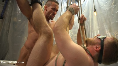 Photo number 17 from Scott Riley Pays His Debts With His Ass shot for Bound Gods on Kink.com. Featuring Myles Landon and Scott Riley in hardcore BDSM & Fetish porn.