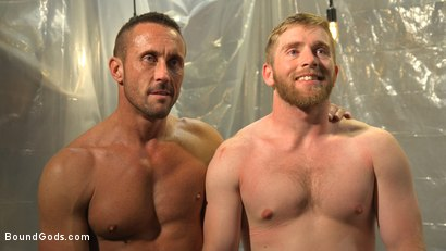 Photo number 21 from Scott Riley Pays His Debts With His Ass shot for Bound Gods on Kink.com. Featuring Myles Landon and Scott Riley in hardcore BDSM & Fetish porn.