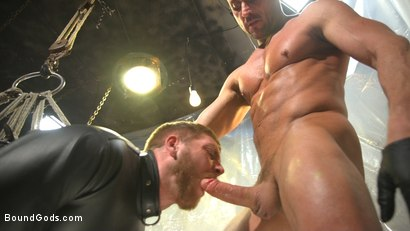 Photo number 7 from Scott Riley Pays His Debts With His Ass shot for Bound Gods on Kink.com. Featuring Myles Landon and Scott Riley in hardcore BDSM & Fetish porn.