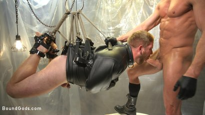 Photo number 9 from Scott Riley Pays His Debts With His Ass shot for Bound Gods on Kink.com. Featuring Myles Landon and Scott Riley in hardcore BDSM & Fetish porn.