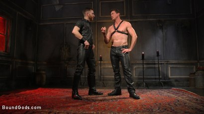 Photo number 1 from Sore Loser: Muscle stud Pierce Paris Gets Beat and Foot-Fucked shot for Bound Gods on Kink.com. Featuring Sebastian Keys and Pierce Paris in hardcore BDSM & Fetish porn.