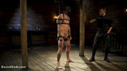 Photo number 8 from Endure The Pain: Straight Stud Dane Stewart Slave Training shot for Bound Gods on Kink.com. Featuring Sebastian Keys and Dane Stewart in hardcore BDSM & Fetish porn.