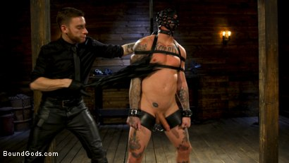 Photo number 9 from Endure The Pain: Straight Stud Dane Stewart Slave Training shot for Bound Gods on Kink.com. Featuring Sebastian Keys and Dane Stewart in hardcore BDSM & Fetish porn.