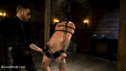 Photo number 11 from Endure The Pain: Straight Stud Dane Stewart Slave Training shot for Bound Gods on Kink.com. Featuring Sebastian Keys and Dane Stewart in hardcore BDSM & Fetish porn.