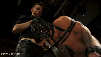 Photo number 15 from Endure The Pain: Straight Stud Dane Stewart Slave Training shot for Bound Gods on Kink.com. Featuring Sebastian Keys and Dane Stewart in hardcore BDSM & Fetish porn.