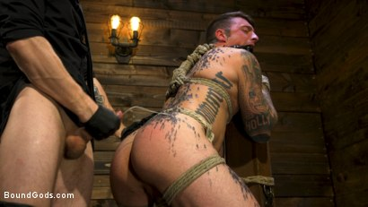 Photo number 20 from Endure The Pain: Straight Stud Dane Stewart Slave Training shot for Bound Gods on Kink.com. Featuring Sebastian Keys and Dane Stewart in hardcore BDSM & Fetish porn.
